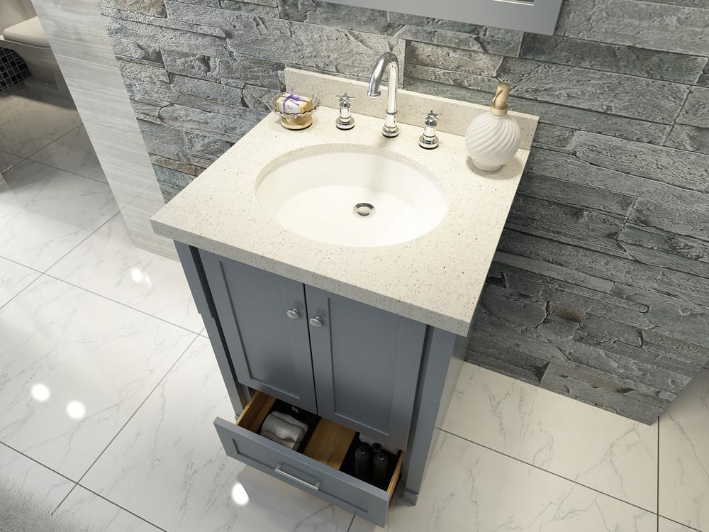 Ariel Adams 25 Single Sink Vanity Set In Grey Gm Online Store