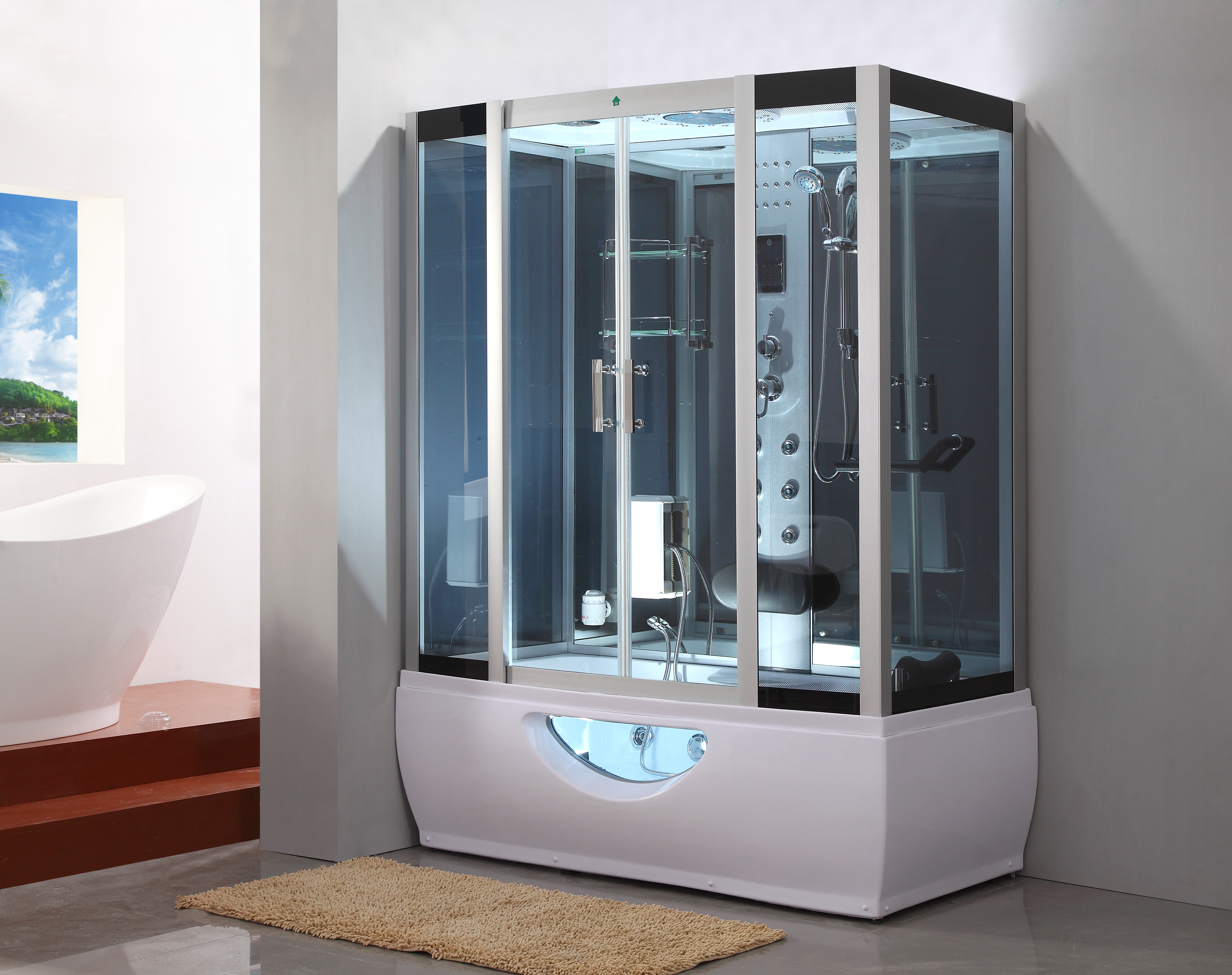 1001now Gt007 Rectangle Steam Shower Enclosure Whirlpool Tub 67 X 35